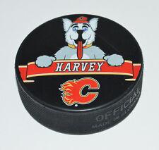 """Calgary Flames Mascot Team Logo SOUVENIR PUCK """"Harvey"""" No The Hound Rare Variant"""