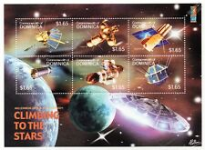 CLIMBING TO THE STARS: Spacecraft/Satellite Space Stamp Sheet #2 (2000 Dominica)