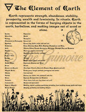 Element of Earth, Book of Shadows Spell Page, Witchcraft, Wicca, Pagan, BOS