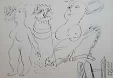 1991 ABSTRACT INK PAINTING NUDE SIGNED