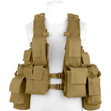 Mfh South African Assault Vest Hunting Cargo Pouch Tactical Airsoft Coyote Tan