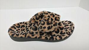 Vionic Indulge Relax Slippers, Leopard Print, Women's 7 M