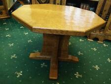 "VINTAGE Solid Oak Octagon Table By Alan Grainger or ""The Acorn Man"" / Mouseman"