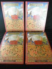 4 volumes, Jules Verne Voyages extraordinaires  Edition Delville Paris 1997