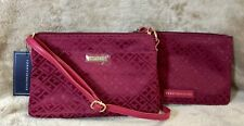 ★ TOMMY HILFIGER* 2-in-1 Multifunction Sling Crossbody SET - Monogram Red ★