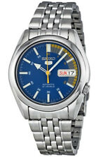 Seiko 5 SNK371 Men's Stainless Steel Blue Speed Dial Day Date Automatic Watch