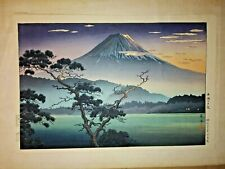 Exceptional Original 1950's or earlier Japanese Woodblock print Koitsu