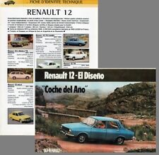 RENAULT 12 - R 12 TS - R 12 TR - R 12 BREAK - fiche renseignement technique car