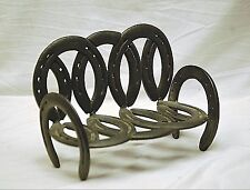 Country Style Western Art Horseshoe Bench Hand Crafted Doll Teddy Bear Display