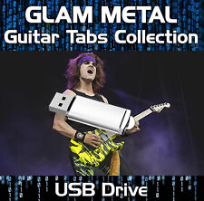 80's - 90's GLAM METAL & ROCK GUITAR TAB TABLATURE SOFTWARE USB