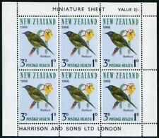 New Zealand B71a-B72a,MNH.Michel 451-452klb. Birds 1966:Bell-bird,Rail-Weka.