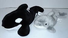 Vintage Sea World FL (12-9in) Shamu Orca & Dolphin Flipper Plush Stuffed Animals
