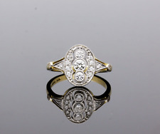 PLATINUM & 18CT GOLD DIAMOND CLUSTER RING