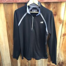 ⚫� New Balance Nwt Men's Long Sleeve Pullover Large Black Thumbholes Lightweight