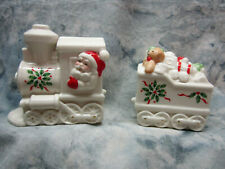 Lenox Collectible Holiday Christmas North Pole Express Salt and Pepper Set