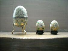 cloisonné filigree eggs 1980's
