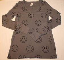 EUC Victoria Secret PINK Gray Smiley Thermal Long Jane Pajamas Medium