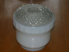 VIntage Glass Clear & White Shade Ceiling Light Globe