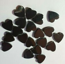 Hematite Semi Precious Gemstone 10mm Heart Jewellery Making Beads x 19 to clear