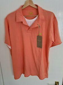 BNWT Mens Orange Blue Harbour Polo Shirt Size Large