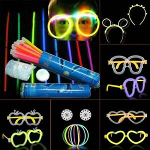 Glow Party Pack Favors Glow in The Dark Party Supplies Luminous Rod Glasses New