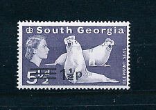 SOUTH GEORGIA 1977 DEFINITIVES SG55 1½p on 5½d  MNH