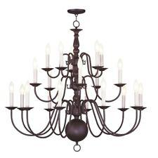 Livex Lighting Williamsburg Chandelier in Bronze - 5019-07
