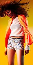 New Rag & Bone Zip Sweatshirt S cotton mesh leather sheer USA perforated coverup