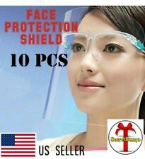 Full Face Shield 10pcs Protection Cover Guard Reusable Clear Safty Protector