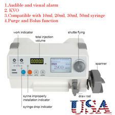 Hd Lcd Injection Infusion Syringe Pump Alarm Kvo Function Portable Medical Tool