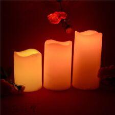 3*LED Kerze Außen + Timer flackernde flammenlose Kerzen Outdoor mit Batterie