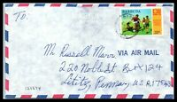 1974 BARBUDA Cover - to Lititz, Pennsylvania, Air Mail C10