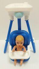 RARE  Fisher Price DOLLHOUSE Swing Infant seat AND Mattel Baby NEWBORN