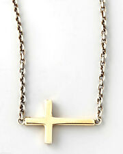 New 1pc Yellow Gold Filled Religious JESUS CROSS Crucifix Pendant Chain Necklace
