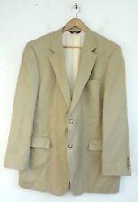 JOS A BANK Mens Tan Wool & Silk Blend Classic Blazer Sport Coat Size 44L