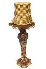 """Large Rattan Candle Lamp 17""""H"""