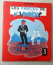 LES FARCES DE MR LAMBIQUE VANDERSTEEN BROCHE EO 55 TBE