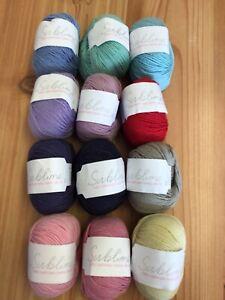 50g Sublime Baby Cashmere Merino Silk D/K Wool/Yarn for Knitting/Crochet