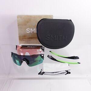 Smith Attack MAG Interchangeable Lens Sunglasses Bonus Lens Back/Green $260 MSRP