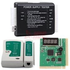 PC Network Test Kit Motherboard POST Analyzer Cable Computer Power Supply Tester