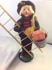 Byers Choice Retired 1991 Chimney Sweep Boy with Ladder and Bucket of Gifts