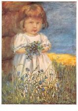 "vintage blank greeting cards  ARS SACRA Spötl""flowergirl""1361"""