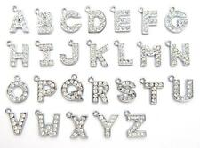26 Alphabet A-Z Letter Crystal Rhinestones 15mm Pandent/Charm/Bead/Bracelet K42