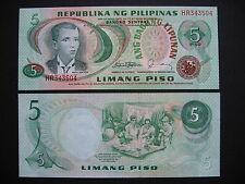 PHILIPPINES  5 Piso 1978  Signature 10  (P160d)  UNC