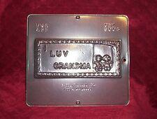 NEW I LOVE GRANDMA Greeting Card Chocolate Candy Fondant Plaster Clay Mold