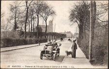 MANTES (78) - Traversée de l'Ile-aux-Dames et Entrée de la Ville (automobile)