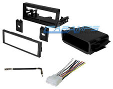 CAR TRUCK STEREO RADIO DASH INSTALLATION KIT TRIM W/ WIRING HARNESS & POCKET