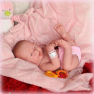 Realistic Newborn GIRL Doll 14in Anatomically Correct + Berenguer Birth Certifi.
