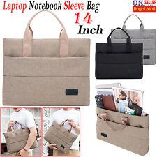 "14"" Inch Laptop Hand Case Sleeve Bag Computer MacBook Apple Lenovo ASUS DELL UK"