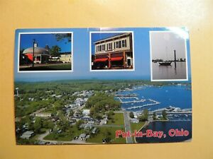 Put-in-Bay Ohio vintage postcard aerial view